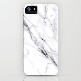 Carrara White Marble iPhone Case