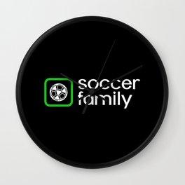 Soccer Family (Green) Wall Clock