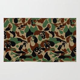 Dachshund  Camouflage Rug
