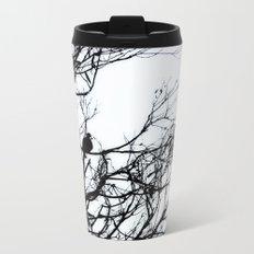 Dove Bird & Winter tree Silhouette Metal Travel Mug