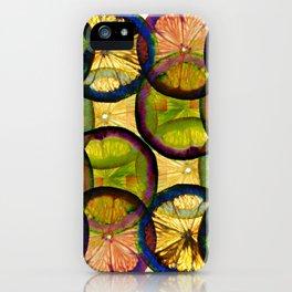 lemons pattern iPhone Case