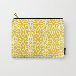 Yellow Ikat Pattern Carry-All Pouch
