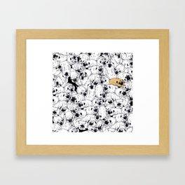 pug world Framed Art Print