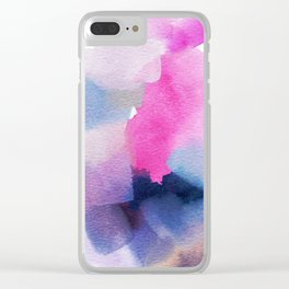 Nod Abstract Painting Clear iPhone Case