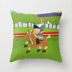 Non Olympic Sports: Polo Throw Pillow