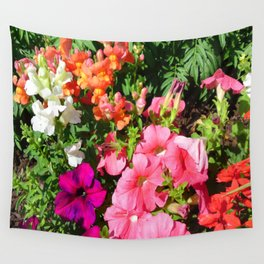 Mixed Flowers Wall Tapestry