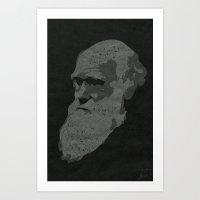 darwin Art Prints featuring Darwin by science fried art