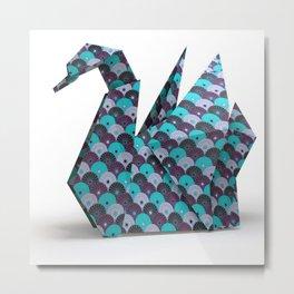 cygne origami Metal Print