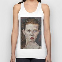 poker Tank Tops featuring Poker face by Charles Ellison