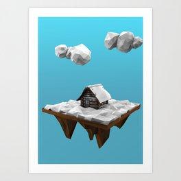 lowpoly winter Art Print