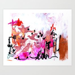 Asemic 3 Art Print