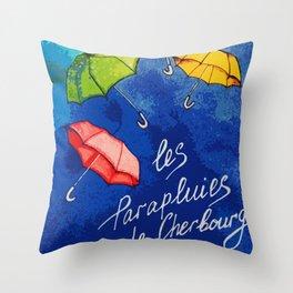 Les Parapluies de Cherbourg Throw Pillow