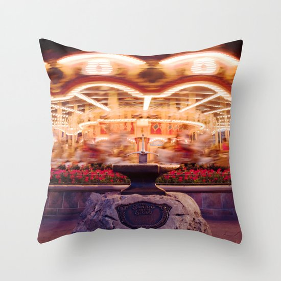 He who so pulleth out this sword . . . Throw Pillow