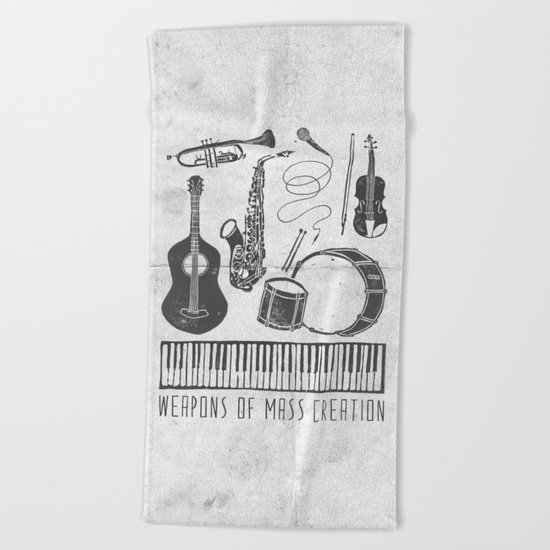 Weapons Of Mass Creation - Music (on paper) Beach Towel