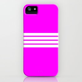 "4 Stripes on Pink ""Girlpower"" iPhone Case"