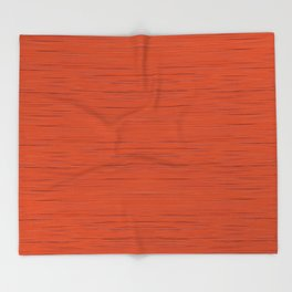 Meteor Stripes - Rust Orange Throw Blanket