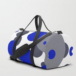 Bubbles blue grey- white design Duffle Bag