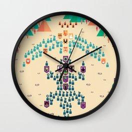 Mahabharata War - 16th Day Wall Clock