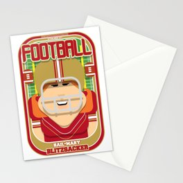 American Football Red and Gold - Hail-Mary Blitzsacker - Jacqui version Stationery Cards