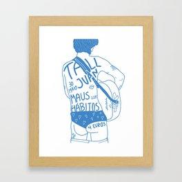 Tall Juan Gig Poster Framed Art Print