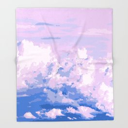 Cotton Candy in Sky Throw Blanket