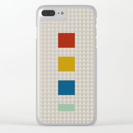 four elements || tweed & primary colors Clear iPhone Case