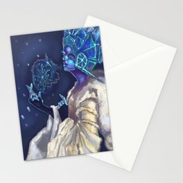 Snow Queen and a SnowFlake Stationery Cards