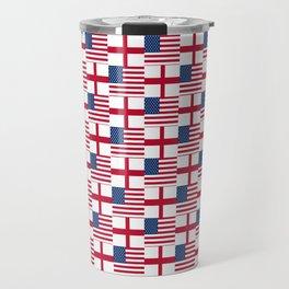 Mix of flag: Usa and england Travel Mug