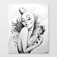 burlesque Canvas Prints featuring Burlesque by Zema