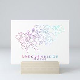 BRECKENRIDGE // Colorado Trail Map Rainbow Color Runs Minimalist Ski & Snowboard Illustration Mini Art Print