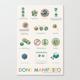 Done Manifesto Canvas Print