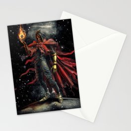 Epic Vincent Valentine Final Fantasy Painting Portrait Stationery Cards