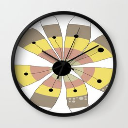 FLOWERY NANA / ORIGINAL DANISH DESIGN bykazandholly Wall Clock