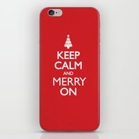 keep calm iPhone & iPod Skins featuring Keep Calm by Trend