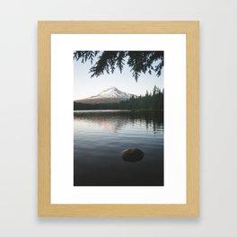 Trillium Lake Framed Art Print