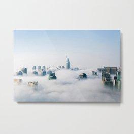 Dubai, United Arab Emirates on a foggy day Metal Print
