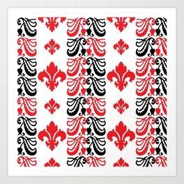 Fluer de Lis Custom Red Art Print