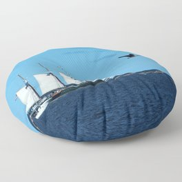 Sails & Geese Floor Pillow