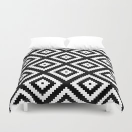 Tribal B&W Duvet Cover