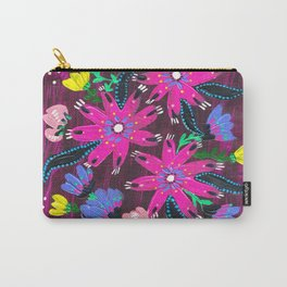 Magenta Bouquet Carry-All Pouch