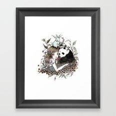 Panda Tea Framed Art Print