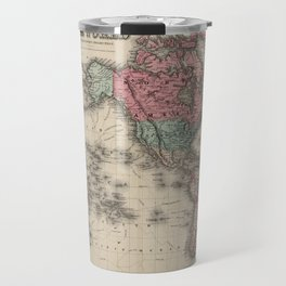 Vintage Map of The World (1869) Travel Mug