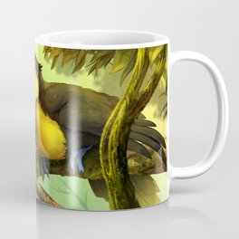 Toucan and Sun Conures : Jungle berries animal art painting birds feathers rain forest conservation Coffee Mug
