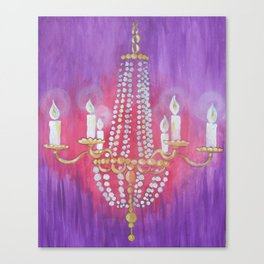 Purple Chandelier Canvas Print