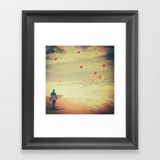Surreal Surfin Framed Art Print