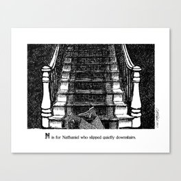 N is for Nathaniel Canvas Print