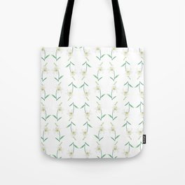 white lily watercolor Tote Bag