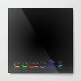 Rainbow Cherries - Black Metal Print