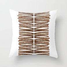 Pretzel Stix Lineup Throw Pillow