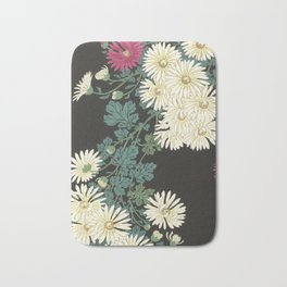 Chrysanthemums and Running Water Bath Mat